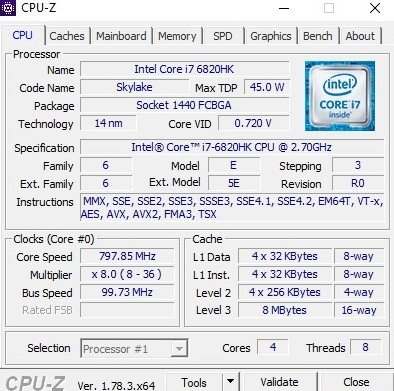 Core i7-6820HK