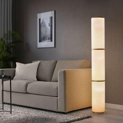 IKEA VIDJA Floor Lamp in White