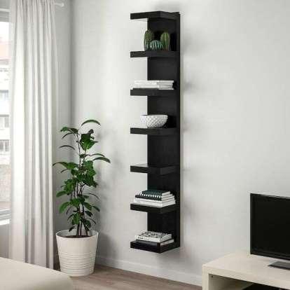 Ikea Lack Wall Shelf Unit, Black