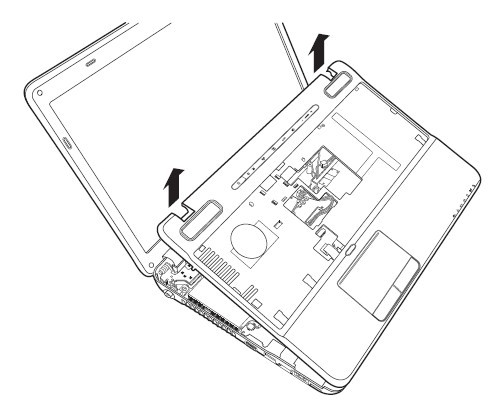 Replace / Remove Toshiba Satellite A660 A665 LCD Hinges