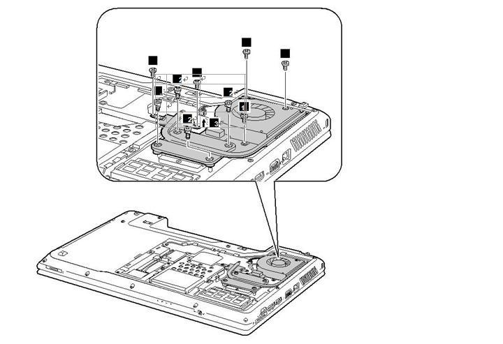 Removal steps of Lenovo Z560 / Z565 Series fan assembly