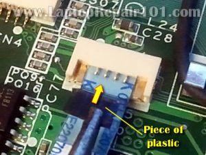 How to repair broken touchpad connector on motherboard | Laptop Repair 101