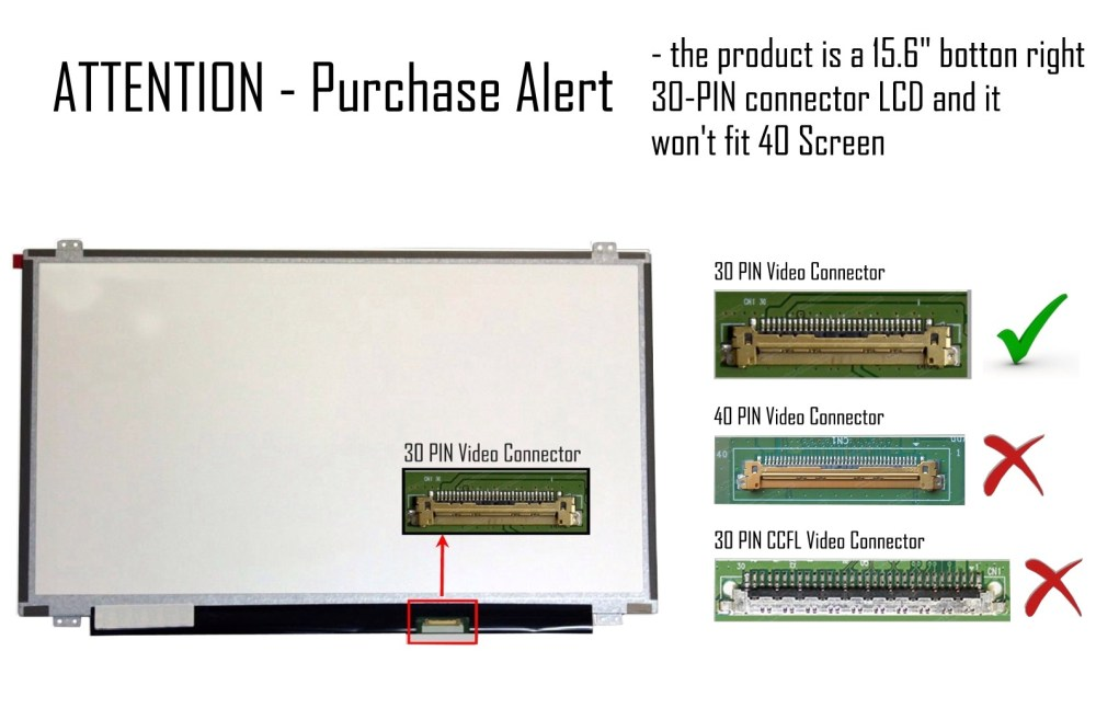 medium resolution of new 15 6 full hd led screen without touch for laptops and notebooks