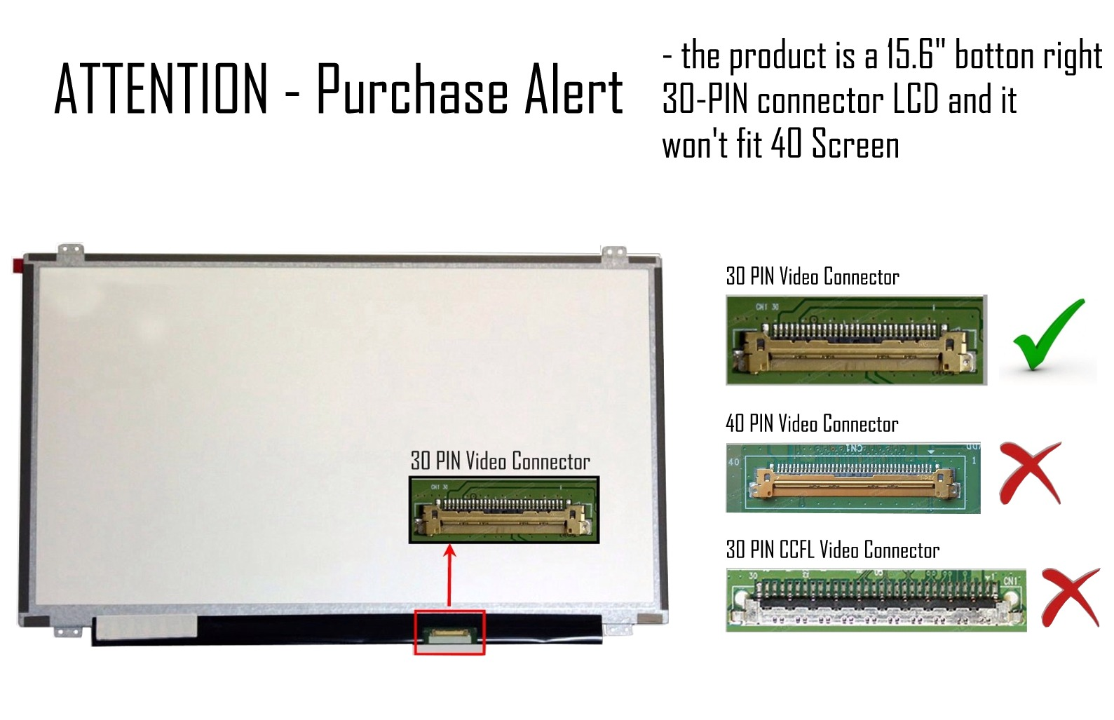 hight resolution of new 15 6 full hd led screen without touch for laptops and notebooks