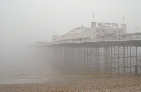 Brighton Pier in the Fog