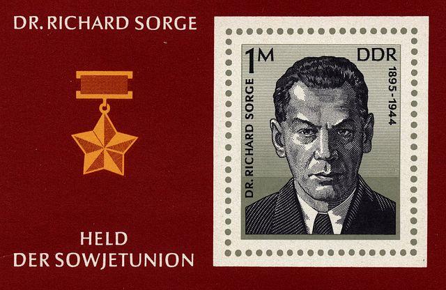 Francobollo DDR Richard Sorge 1976