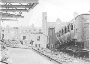 London Necropolis station 1944