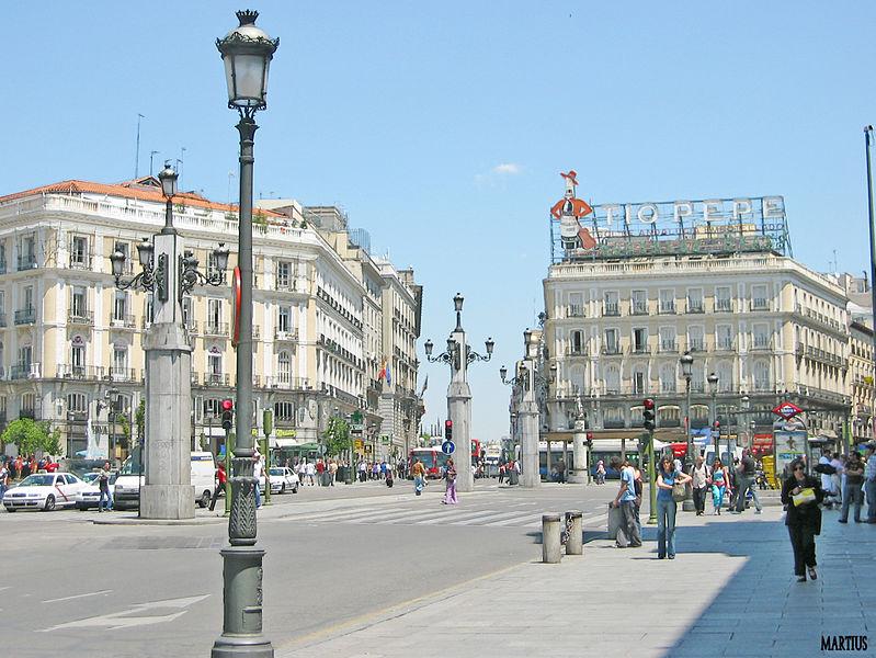 Puerta del Sol, Madrid. M. M. Vicente [CC BY 2-0]