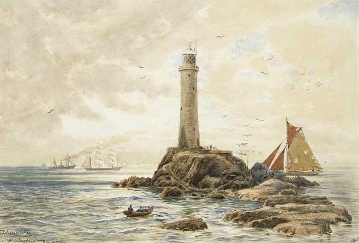 Themistokles_von_Eckenbrecher_-_Lands_End_mit_Segelschiffen_und_Leuchtturm