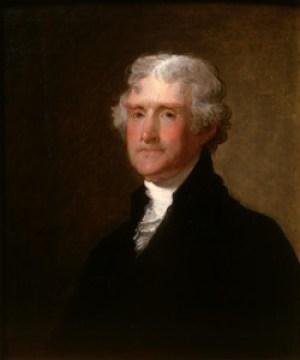 Thomas Jefferson, dipinto di Gilbert Stuart