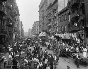 Mulberry Street, New York, 1900 c.a
