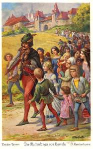 Pifferaio magico, cartolina del 1930 c.a