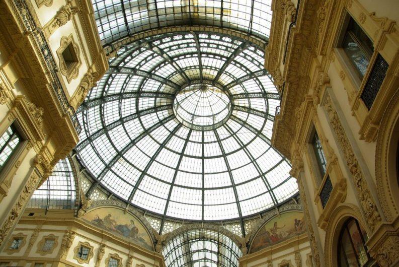 Galleria Vittorio Emanuele II: la cupola.