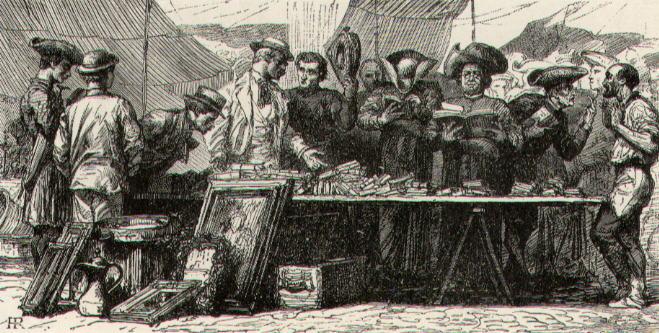 Regnault, The old flea market in Piazza Montanara (1860 c.a)