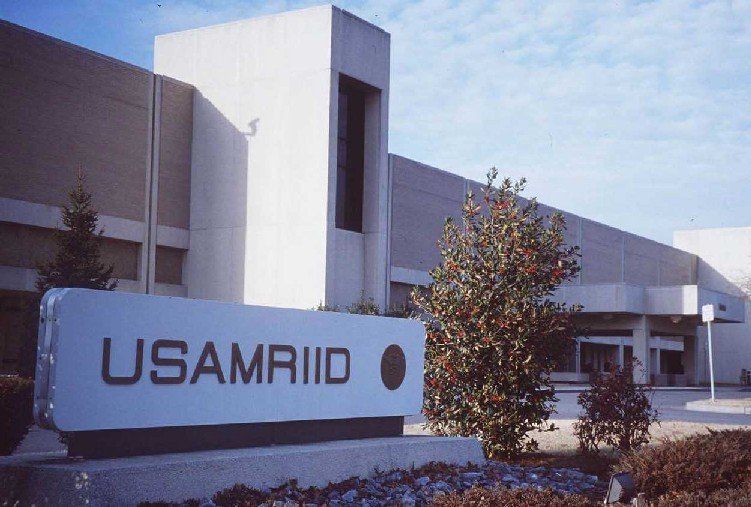 Edificio USAMRIID a Fort Detrick, nel Maryland.
