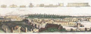 Dettaglio: veduta degli scavi