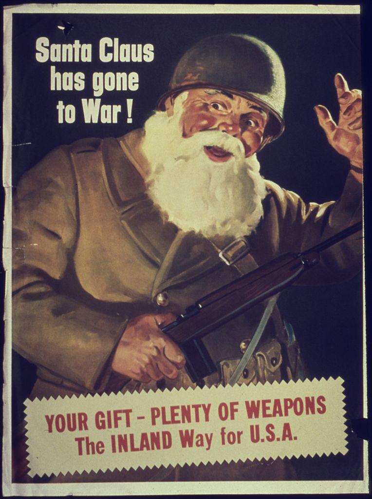 "mainfesto ""Santa Claus Has Gone To War"""