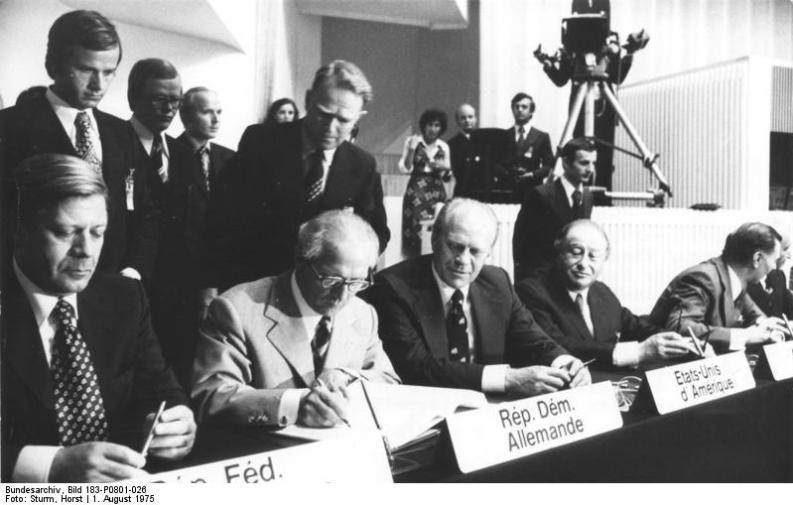 Firma degli accordi di Helsinki, 1975