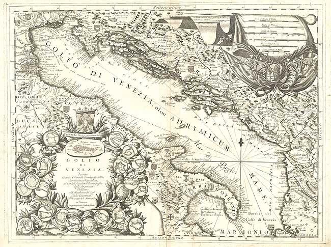Golfo di Venezia mappa 1688