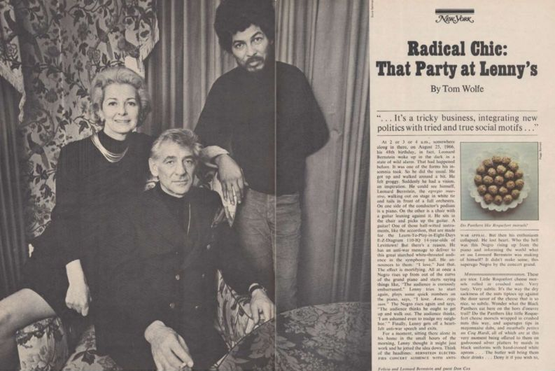 """Radical Chic That Party at Lenny's"" di Tom Wolfe, da New York Magazine 1972"