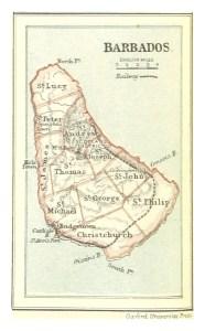 Mappa di Barbados, 1888