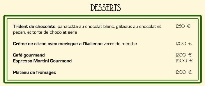Desserts fr