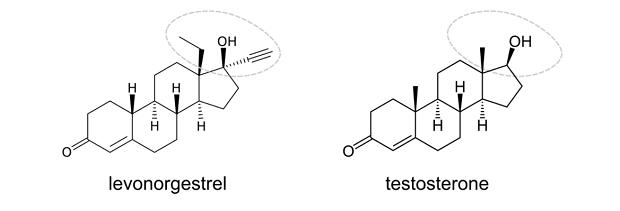 Progestin versus testosterone