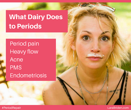 what dairy does to periods