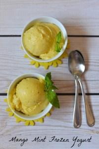 Mango+Mint+Frozen+Yogurt