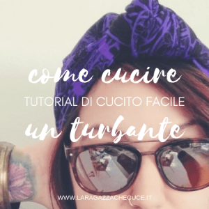 come cucire un turbante