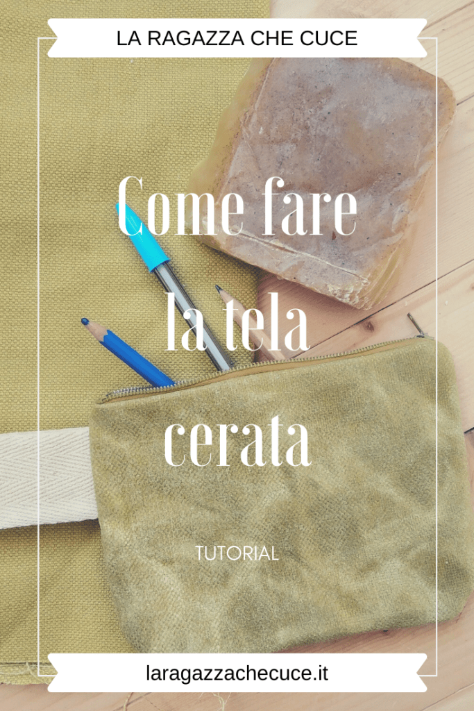 come fare tela cerata waxed canvas diy fai da te