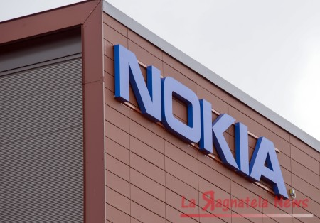 epa05246392 (FILE) A file photo dated 16 April 2015 showing Nokia logo on the wall of Nokia company headquarters in Espoo, Finland. According to reports from 06 April 2016, Nokia aims to save 900 million euro per year until 2018 by cutting up to 15,000 jobs. EPA/MARKKU OJALA FINLAND OUT *** Local Caption *** 52564872 ORG XMIT: NOK01
