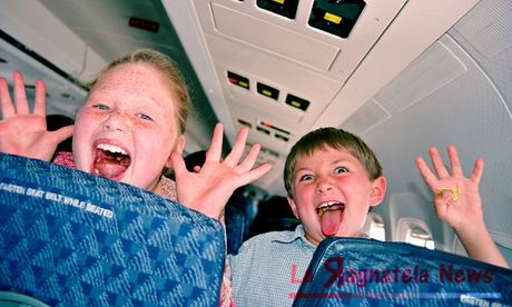 Kids on an plane; at least it's not snakes