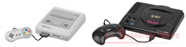 Il Super Nintendo e il Sega Mega Drive