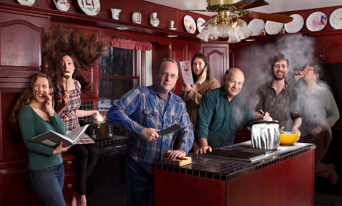 kitchen disaster family portrait