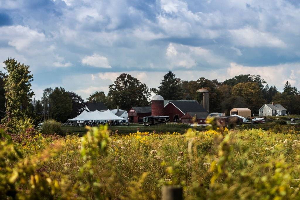 Sunny day at Bunnell Farm in Litchfield landscape