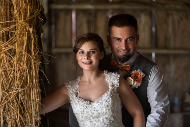 wedding photos in the barn at Bunnell Farm in Litchfield