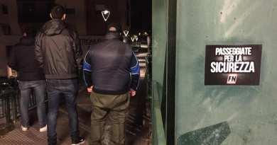 Perugia. Passeggiate per la sicurezza di Forza Nuova