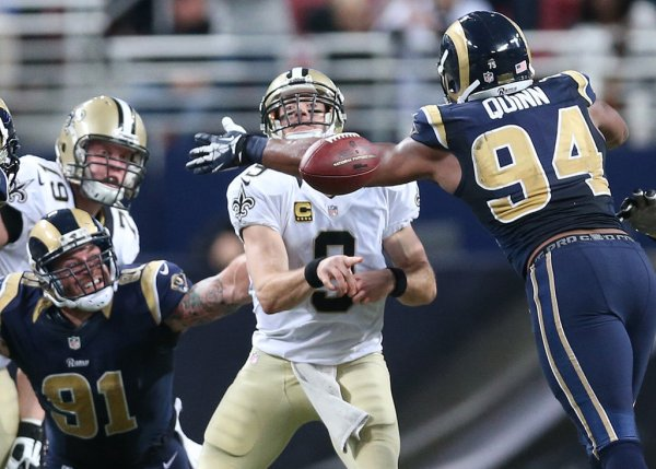 Rams defense har tidligere haft succes mod Saints. Her i en sejr i 2013 (photo credit: www.nola.com)
