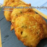 Tortillitas de bacalao con harina de garbanzos