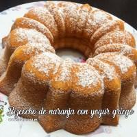 Bizcocho de naranja con yogur griego