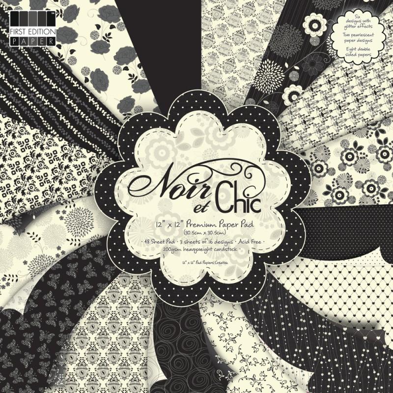 Carta Scrap Noir  Chic 48 fg