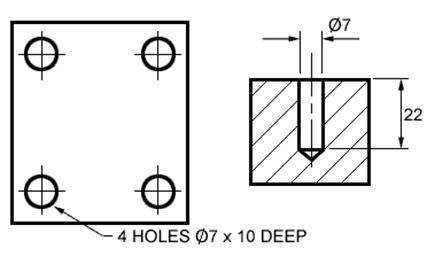 Engineering technical drawing dimensioning and tolerancing
