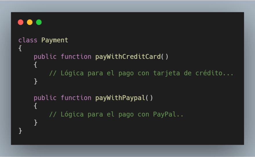 Clase Payment