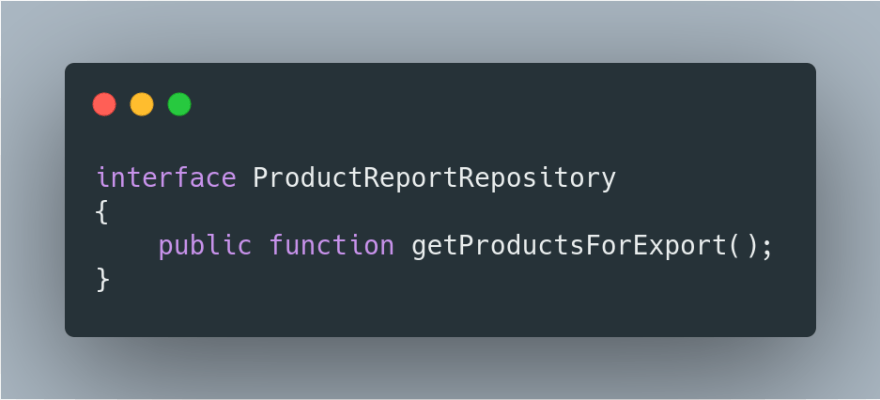 Interface de Export