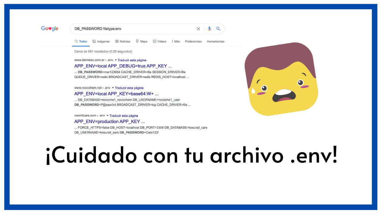 ¡Cuidado con tu archivo .env! No olvides hacer esto