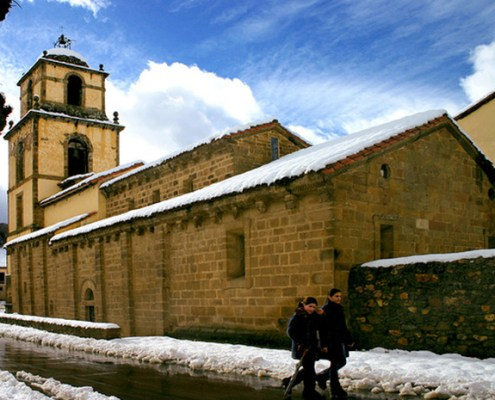 Iglesia casa rural L'Arboleu Asturias Teverga