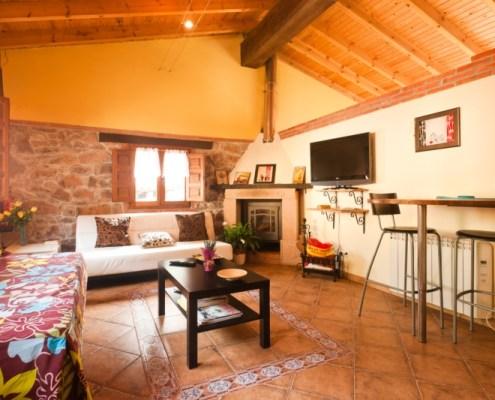 Casa rural con chimenea