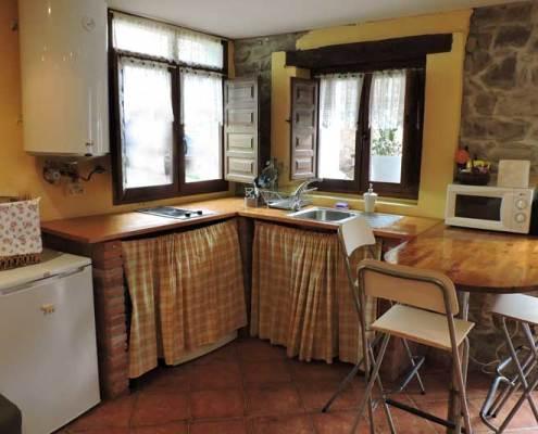 cocina con chimenea para parejas