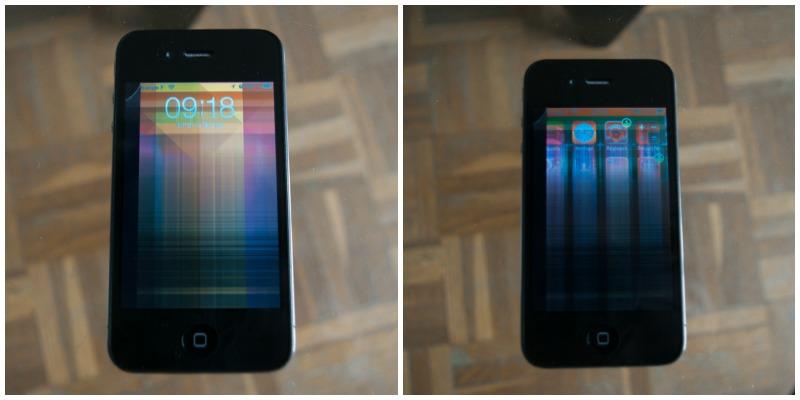 Iphone ecran lcd cassé